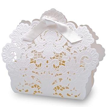 Amazon.com: Doris Home - Caja de caramelos con diseño láser ...