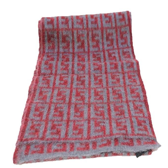 nuovo prodotto 1d332 52a26 Fendi Sciarpa maglia logi rosso ff grigio collezione 2019 ...