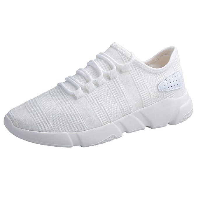 JiaMeng Moda Zapatillas Running para Hombre Aire Libre y Deporte Transpirables Beathable Zapatos de Malla Zapatillas de Deporte Casuales con Cordones ...