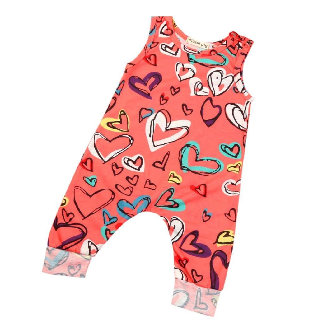 Zolimx Newborn Toddler Baby Girl Boy Print Romper Jumpsuit Clothes Outfit Sunsuit Set