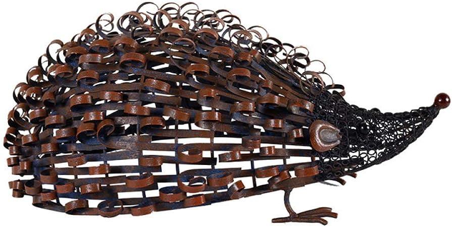 zenggp Adornos De Jardín De Animales Corral Interior/Exterior Escultura De Metal Animal,J+Hedgehog: Amazon.es: Hogar