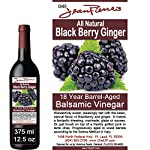 Blackberry Ginger Traditional Barrel Aged 18 Years Italian Balsamic Vinegar 100% All Natural 5 Dark color, syrupy consistency, rich aroma and complex flavor Aged in 6 types of wood for a minimum of 18 years 100% natural, NO sugar added, NO preservative of any kind