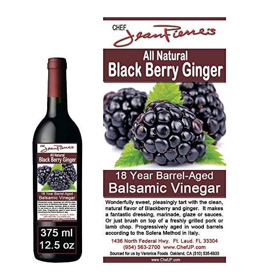 Blackberry Ginger Traditional Barrel Aged 18 Years Italian Balsamic Vinegar 100% All Natural 2 Dark color, syrupy consistency, rich aroma and complex flavor Aged in 6 types of wood for a minimum of 18 years 100% natural, NO sugar added, NO preservative of any kind