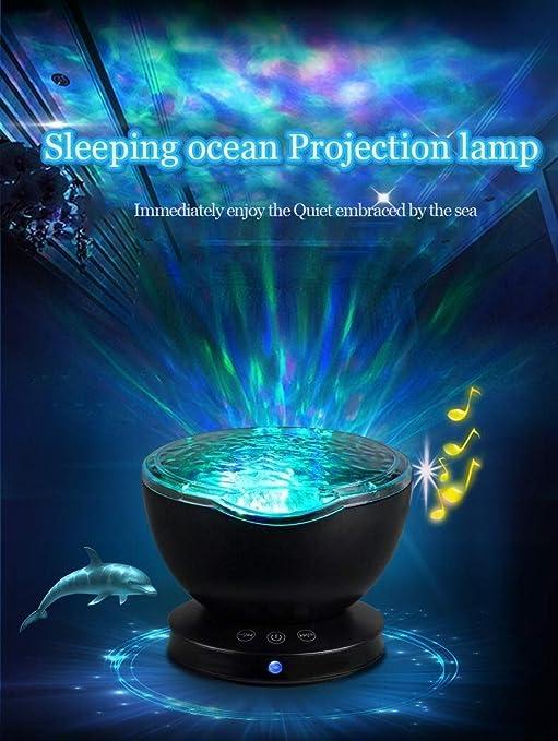 Océano proyector de la onda, control remoto Aurora luz de la noche ...