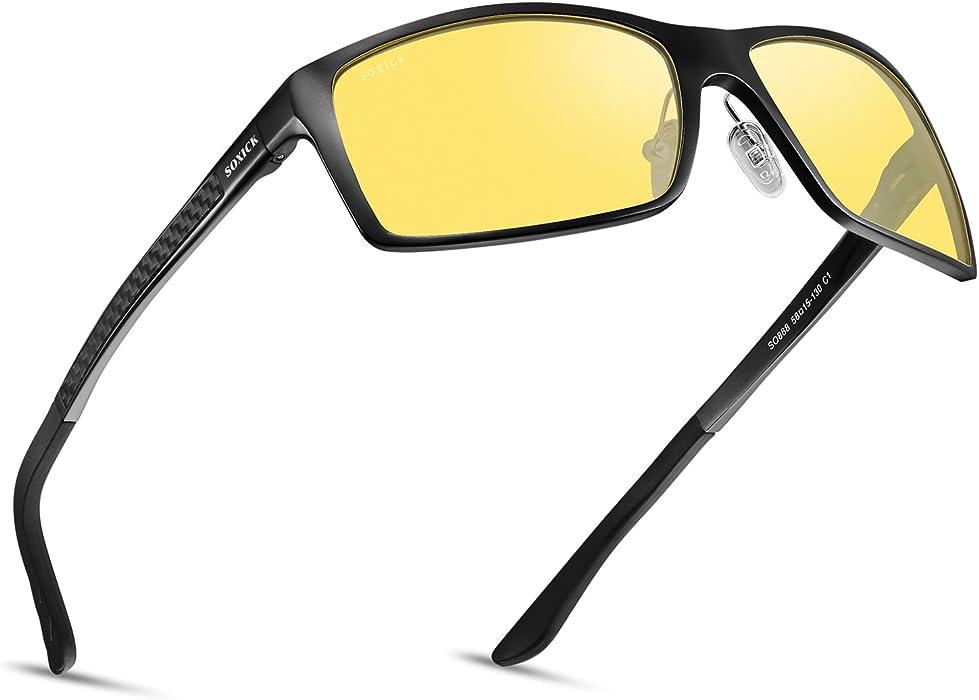 e811f63f404 SOXICK Night Vision Glasses for Driving - Adjustable Polarized HD Driver  Glasses For Men Women (