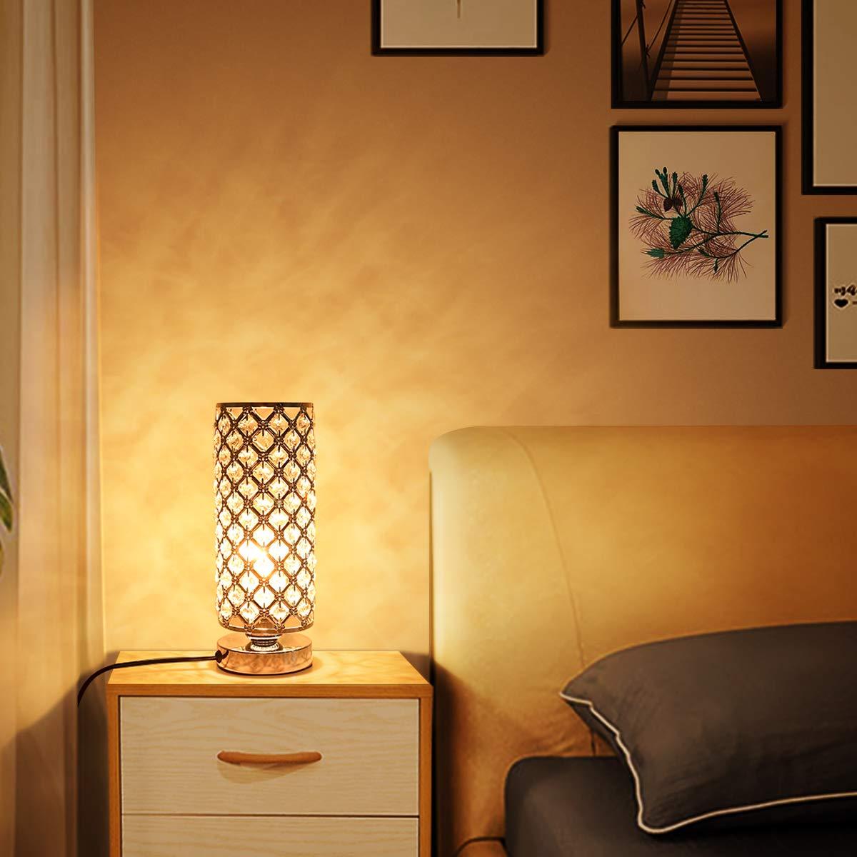 Amazon.com: Lámpara de mesa con control táctil, lámpara de ...