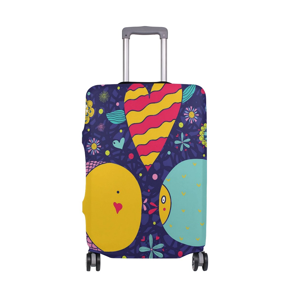 Cute Fish Love Sea Ocean World Suitcase Luggage Cover Protector for Travel Kids Men Women
