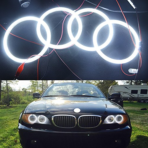 - NSLUMO Special fit for BMW Angel Eye Halo Light 3014SMD led ring for E46 3 Series White 2D 2 Door Coupe 2DR Facelift (BMW E46 2D)