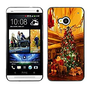 YOYO Slim PC / Aluminium Case Cover Armor Shell Portection //Christmas Holiday Santa Gifts & Tree 1118 //HTC One M7