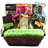 Gift Basket Village Just Beachy, Tropical Spa and Gourmet Gift Set, 9 Pound