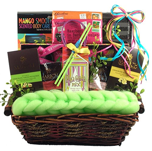 Gift Basket Village Just Beachy, Tropical Spa and Gourmet Gift Set, 9 Pound by Gift Basket Village