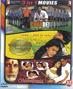 Chak De India! / Dilwale Dulhania Le Jayenge / Mohabbatein(3 in 1 - 100% Orginal DVD Without Subtittle)