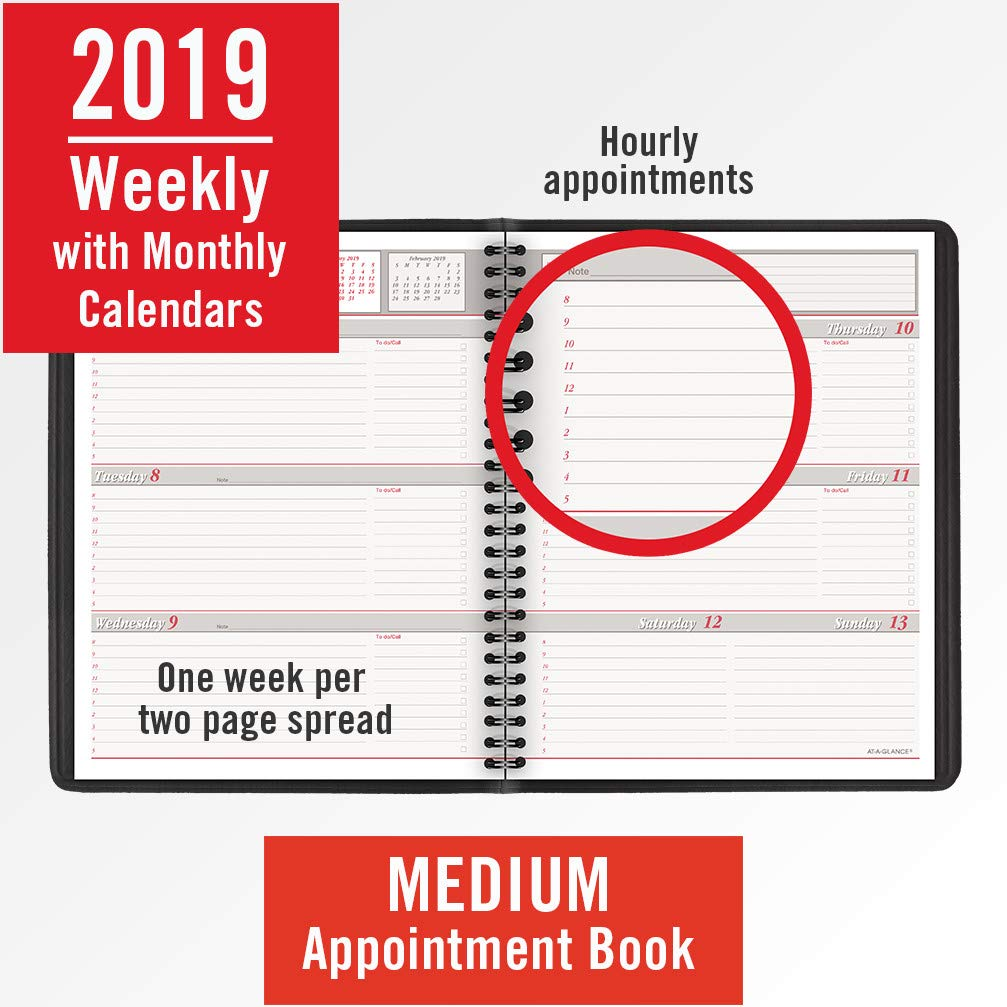 at a glance my week 2019 weekly planner 12 month english