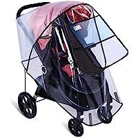 Stroller Rain Cover by Hombae, Universal Baby Stroller Weather Shield, WaterproofStroller Cover, Travel Umbrella Stroller Wind Dust Shield, Stroller Cover for Rain, Food Grade EVA, Eye Protect