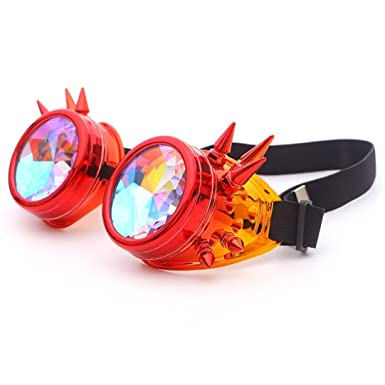 5f9795cda5cf Cinhent Sunglasses Festival Party EDM Kaleidoscope Diffracted Lens Glasses  Rave (A)