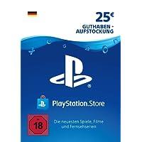 PSN Card-Aufstockung | 25 EUR | PS4, PS3, PS Vita Playstation Network Download Code - deutsches Konto