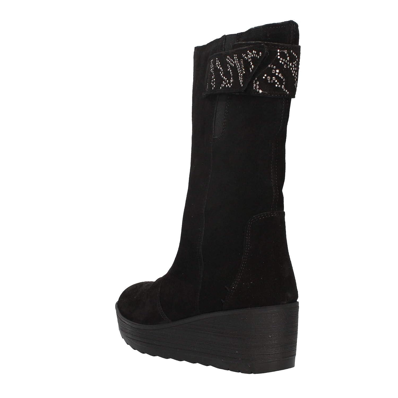 Stivali Igi Co per donna in camoscio nero con zeppa alta  Amazon.it  Scarpe  e borse 0219e3000ff
