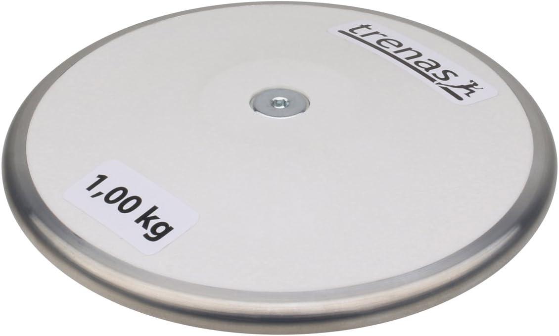 0,75 kg TRENAS Disco de competici/ón EUROPA cumple la normativa de la IAAF 2,00 kg 1,00 kg 1,50 kg lanzamiento de disco 1,75 kg