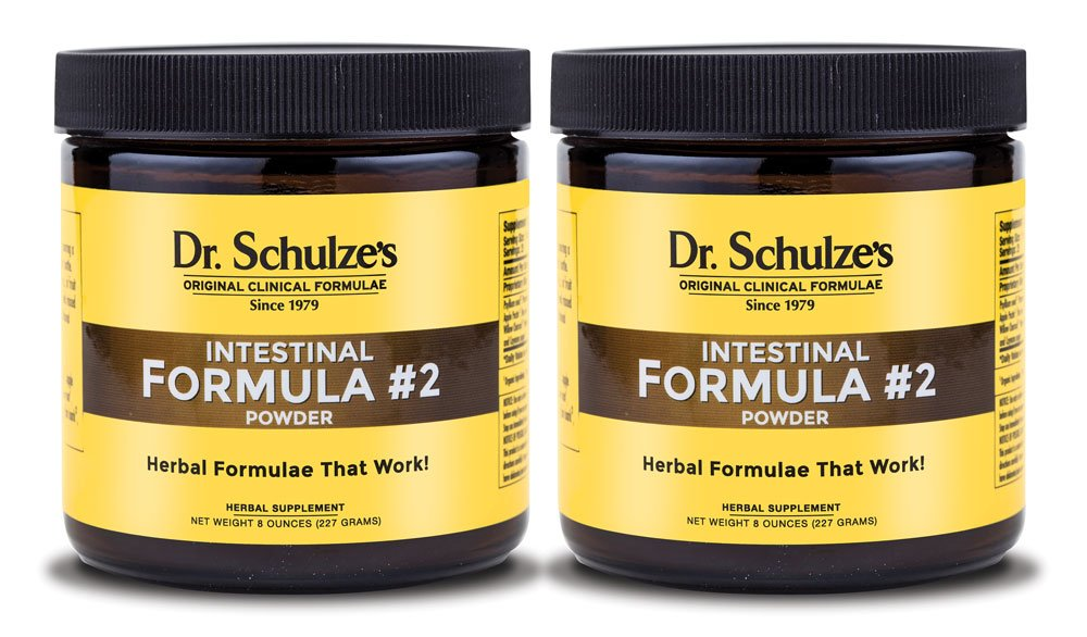 Dr. Schulze's | Intestinal Formula #2 | Herbal Colon Cleanse Formula | Natural Detox Powder| Dietary Supplement | Remove Excess Waste, Poisons & Build-Up | Gastroenteric Vacuum | 8 Oz. Jar (2 Pack) by Dr. Schulze's (Image #1)