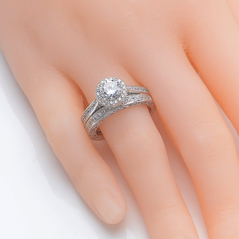 newshe jewellery alice 2 4 carat round white cz 925