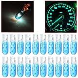 97 dodge ram 1500 dash parts - CCIYU 20 Pack Blue T5 17 86 206 Halogen Light Bulb Instrument Cluster Gauge Dash Lamp 12V