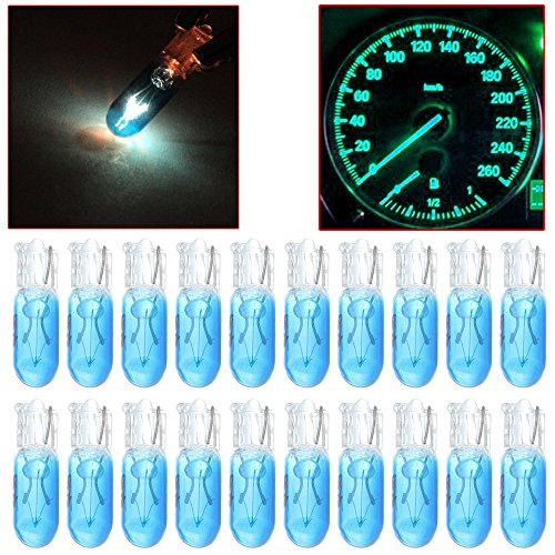 2000 Isuzu Rodeo Parts - cciyu 20 Pack Blue T5 17 86 206 Halogen Light Bulb Instrument Cluster Gauge Dash Lamp 12V