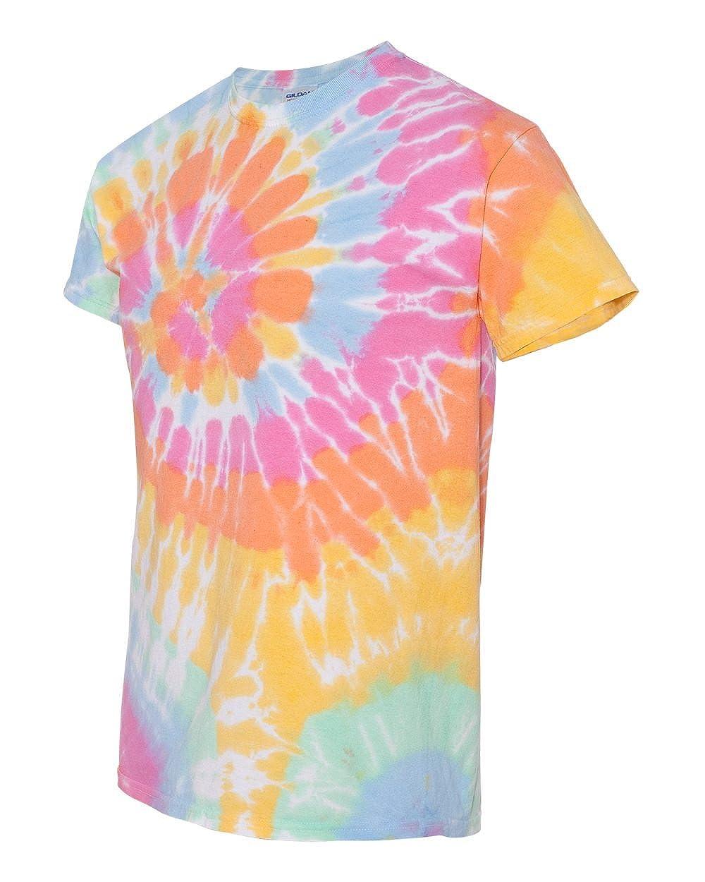 8dca81ceac9 Amazon.com  Gildan Tie-Dye Adult Rainbow Swirl Tie-Dye Tee - Aerial - S   Clothing