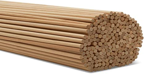 Amazon Com Dowel Rods Wood Sticks Wooden Dowel Rods 1 4 X 24 Inch Unfinished Hardwood Sticks For Crafts And Diyers 50 Pieces By Woodpeckers