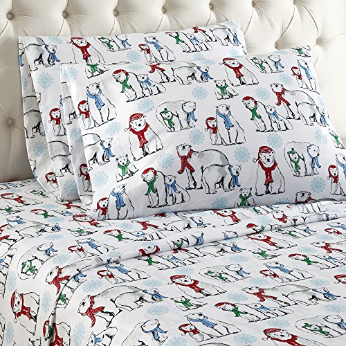 Thermee Micro Flannel Sheet Set, Full, North Pole