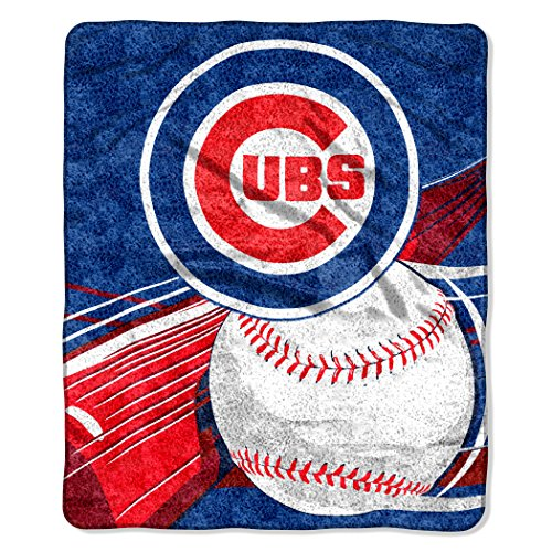 MLB Chicago Cubs Big Stick Sherpa on Sherpa Throw, 50