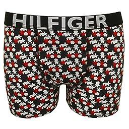 Tommy Hilfiger 2-Pack Bold Hilfiger Logo Stars Print Boys Boxer Trunks Age 6-7 Red/Blue