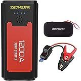 1200A Peak 10400mAh Starter Battery, Zeonetak Jump Starter Car Battery para motor diesel hasta 7.0L Gas / 5.5L Diesel, Starter Auto Emergency con luz de flash, pantalla LCD,carga inteligente
