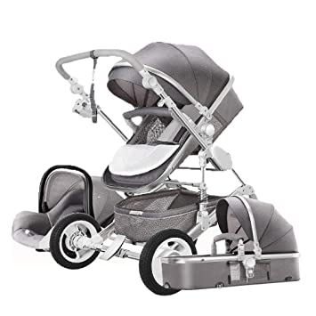 726d5b698303 Amazon.com : Fashion Baby Stroller 3 in 1 with car for Newborn Alta ...