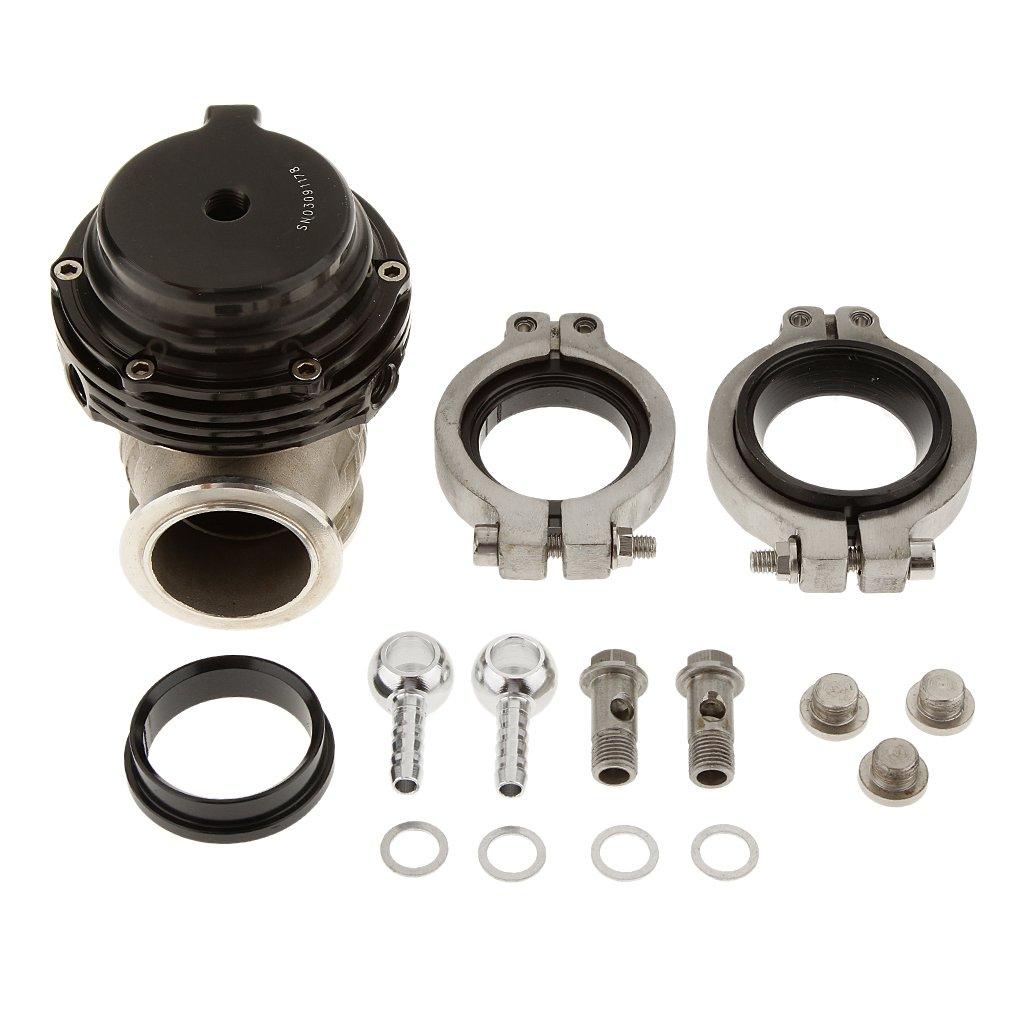 Jili Online Performance Universal Car Turbo External 38mm Wastegate Bypass Exhaust 8 Psi Spring - Black