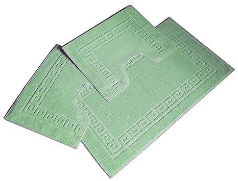 CASA TESSILE Greco Parure tappeti bagno 3 pz - BLU: Amazon.it: Casa ...