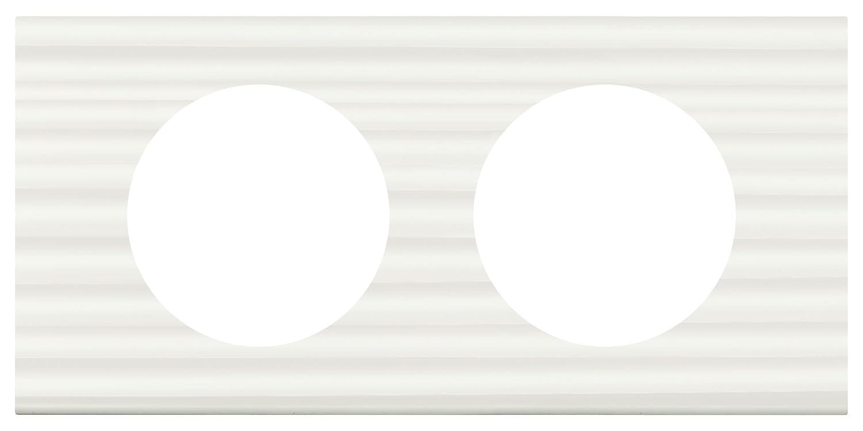Legrand LEG69024 S/érie les mati/ères plaque c/éliane 4 postes corian goug/é