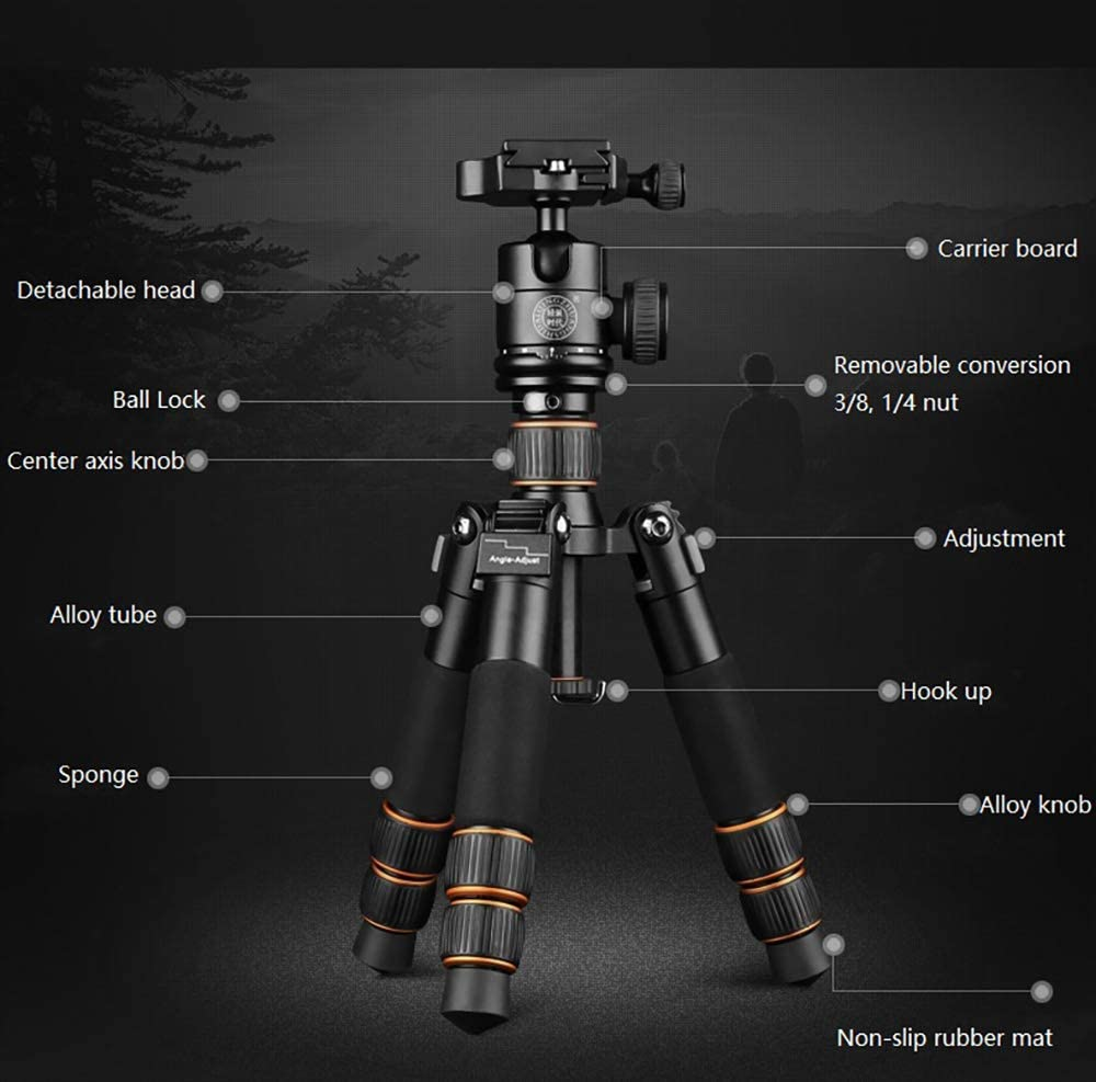 21.6//55 cm for Nikon Sony DSLR and Macro Photograp Portable Aluminum Alloy Camera Tripod Vertical Shot Selfie