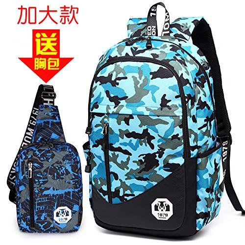 Camouflage sky bleu plus big money  SQB Version coréenne des Femmes de l'école, la Nouvelle Dame de la Mode, Petit Sac à Dos, imperméable à l'eau, décontracté, Sac féminin, voituretable de la personnalit
