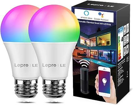 2er PACK Smart WLAN LED Lampe Wifi Glühbirne Birne Kompatibel mit Amazon Alexa