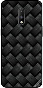 For OnePlus 7 Case Cover Black Strips Pattern