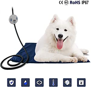 PETLESO Dog Heating Pad - Waterproof Heating Pads for Pets Dogs & Cats with UL Certificate