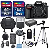 Nikon D7200 24.2MP CMOS Digital SLR Camera (BODY) Total of 24 GB SDHC Class10 +Extra Battery & AC/DC Turbo Travel Charger + Complete Deluxe Accessory Kit - International Version