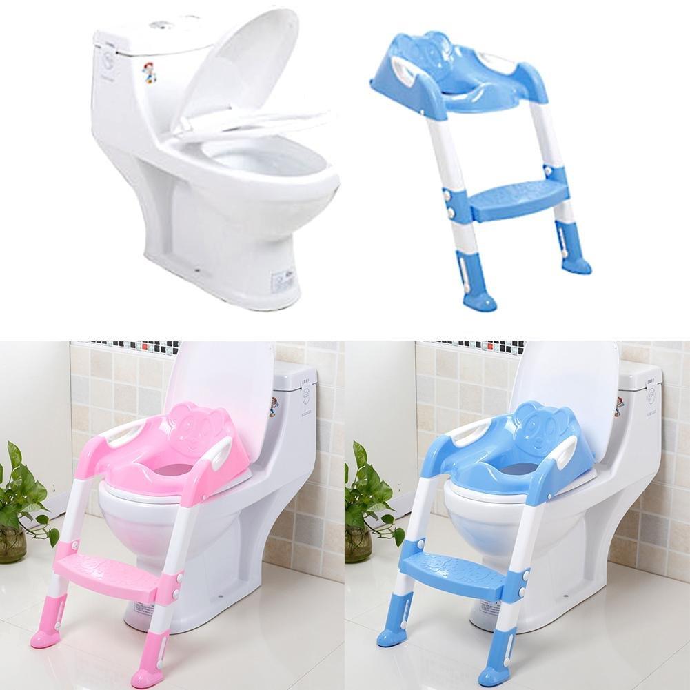 Multi-steps pour enfant Toilettes Grande taille Borne Po/êle pour b/éb/é R/éducteur WC avec marche pour /étapes Assistant Pot /Échelle r/églable de si/ège de s/écurit/é pour enfant