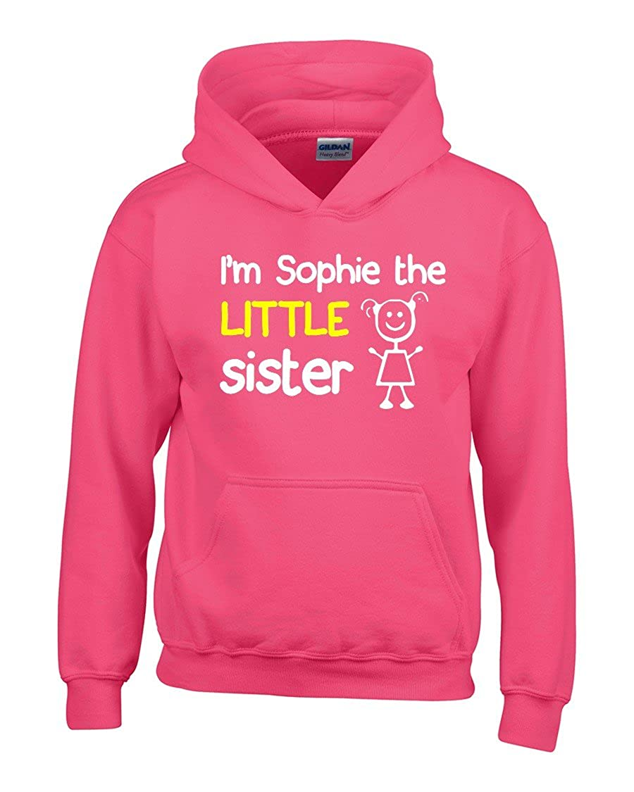 Direct 23 Ltd Personalized Im The Little Sister Girls Hoodie