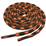 YJRVFINE 2 Pair 62.99'' Inch Abrasion Resistant Anti-slip Outdoor Climbing Shoelaces Orange Brown Round Hiking Shoe Laces