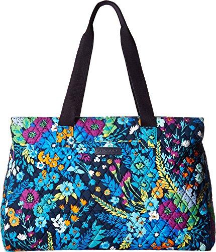 Triple Travel Bag (Vera Bradley Women's Triple Compartment Travel Bag Midnight Blues One Size)