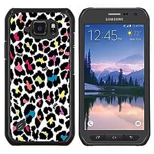 TECHCASE---Cubierta de la caja de protección para la piel dura ** Samsung Galaxy S6 Active G890A ** --patrón de leopardo patrón de la piel de colores