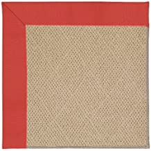 "8' x 10' Rectangular Made-to-Order Oscar Isberian Rugs Area Rug Sunset Red Color Machine Made USA ""Zoe Collection"" Cane Wicker Design"