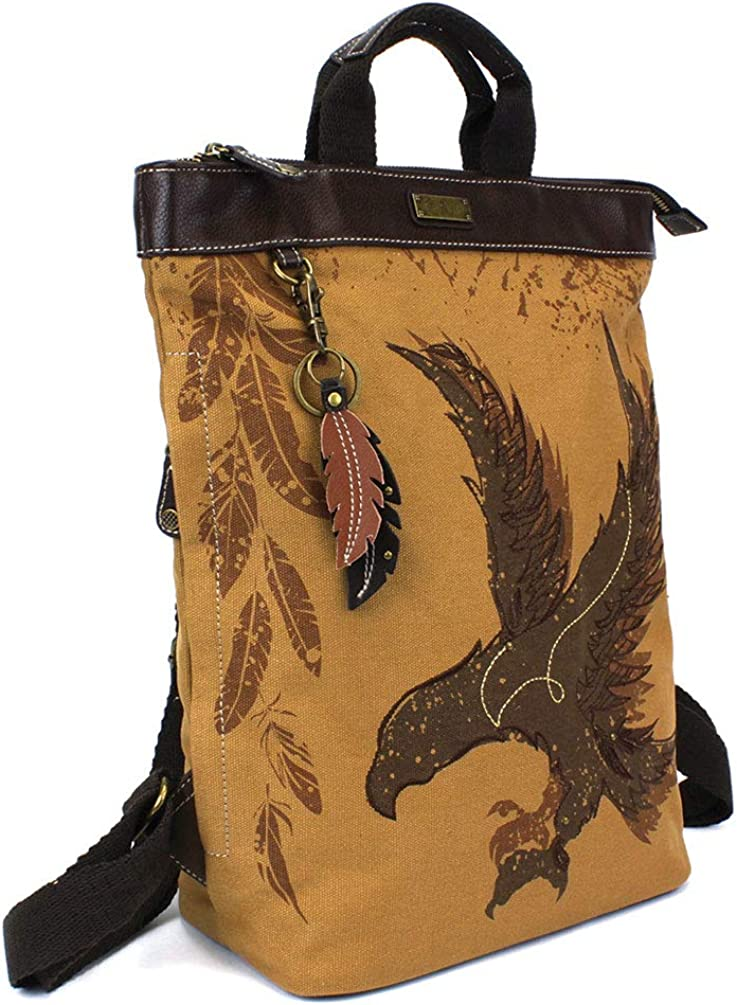 CHALA Safari Backpack Faux Leather//Canvas