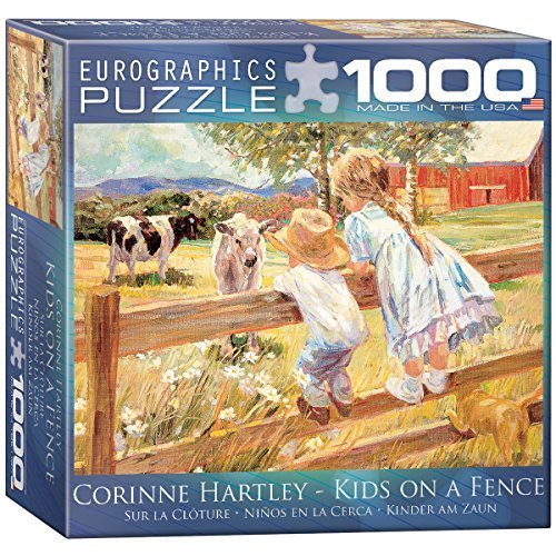 Kids on a Fence by Corinne Hartley Puzzle, 1000-Piece by EuroGraphics